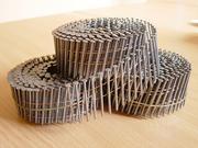 Гвозди на бобинах ершеные 40,  50,  60,  70,  80,  90 для паллет,  поддонов