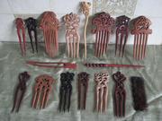 Продам  заколки и расчески вырезанные из экзотических и ценных пород дерева. Авторские,  разных стилей.