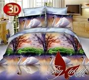 Купить дешево постельное белье 3д,  Микросатин TG082