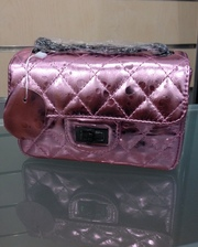 Клатч кожаный Chanel.Цвет: розовый