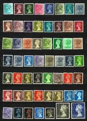 Продам оптом почтовые марки Англии 1968-1975 гг.