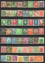 Продам оптом 55 шт почтовых марки Германия рейх 1888-1943гг.