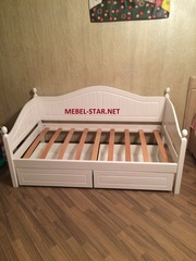 подростковая кровать из натурального дерева