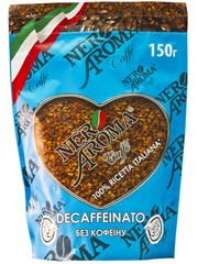 Оптом Растворимый кофе Nero Aroma Decaffeinato 150 гр