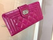 Стильный кожаный кошелек Chanel