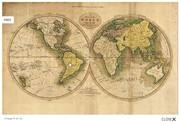 Оригинальный подарок - Географическая карта - три экспедиции Джеймса Кука