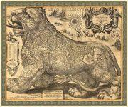 Элитный подарок - Карта Бельгийского королевства