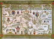 Элитный подарок - Карта Портолан Франческо Олива 1662