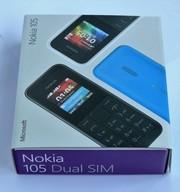 Nokia 105 Dual Sim (Black,  Cyan)