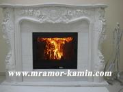 Мраморный камин с резьбой