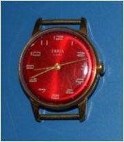 Часы ZARJA.  Нерабочие. СССР. Позолота. 17 камней.