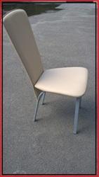 Стулья стул бежевый металлический бу с мягким сидением и спинкой