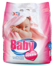 Безфосфатный стиральный порошок для детских вещей Forsil Baby (3 кг.)