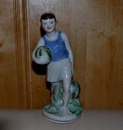 Мальчик с арбузами,  Городница,  фарфоровая статуэтка  1950 - 1960 гг.