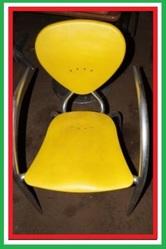 Пластиковые стулья дизайнерские б/у Simphony МВ Италия алюминиевый кар