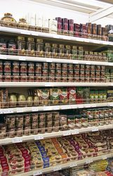 Торговые стеллажи для продуктовых магазинов