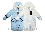 Комбинезон детский трансформер на меху Снеговик оптом
