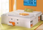 Двуспальная кровать Лето из натурального дерева