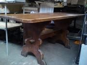 Стол деревянный массив сосна б/у