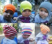 Детские демисезонные шапки,  разные модели и цвета