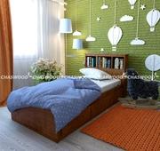 Детская кровать Тэдди из натурального дерева