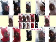 Детские зимние шапки шлемы,  р. 44-48 см,  до 1, 5 года