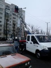 Замена ламп на электростолбах