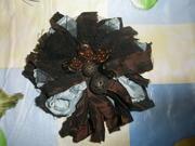 Продам новая, стиль, эксклюзивная, брошка-цветок из ткани, д/платья, блузы.