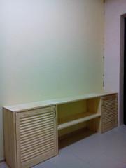 Шкаф для обуви из дверей жалюзи