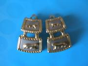 Новые, красивые, стильные, оригинальные, металл, клипсы под золото-серебро.