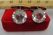 Продам раритетные серебренные  запонки с камнями