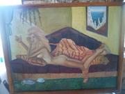 Малюнок Дівчина на дивані