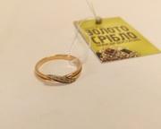 Кольцо Б/У золото с бриллиантами. Вес 1, 74 гр. Продам из наличия.