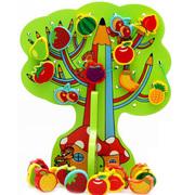 Развивающие игрушки шнуровка дерево «Чип и Дейл» с фруктами