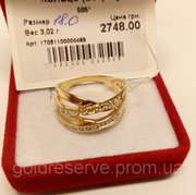 Золотое кольцо Б/У. Вес 3, 02 грамм.