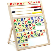 Доска буквы,  счеты,  цифры