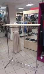 Продам стойку для одежды (вешало,  книжка) прямую с полкой вверху