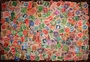 Продам дешево 500 шт оптом почтовые марки 1900-1959
