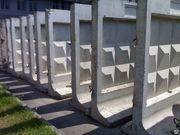панели ограждения,  фундамент железобетонных панелей,  плиты ограждения