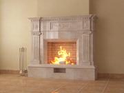 Камин мраморный камин из мрамора строительные услуги дом дача строительство отопление