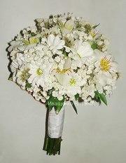 Свадебный букет дублер из живых цветов