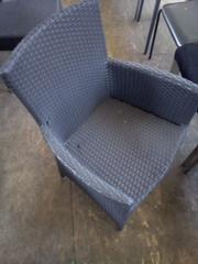 Кресло б/у с подлокотниками из искуственного ротанга для кафе,  бара
