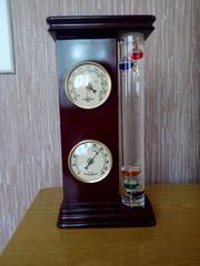 Домашняя метеостанция: гигрометр,  барометр,  термометр Галилео