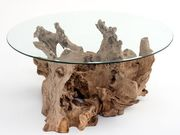 Журнальный столик из капа и корня дерева разработаем под заказ.