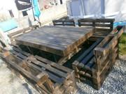 Столы,  лавки из дерева