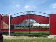 Изготовление заборов из профнастила,  ворота,  решетки,  навесы,  изгот.