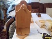 Разделочная доска (кухонная досточка) с подставкой - комплект 4 шт