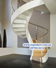 Монолитные бетонные лестницы. Проект изготовление под заказ,  Киев