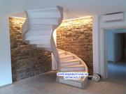 Изготовление монолитных,  железобетонных,  бетонных лестниц