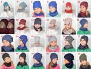 Шапка,  хомут: детский демисезонный комплект,  мальчику и девочке